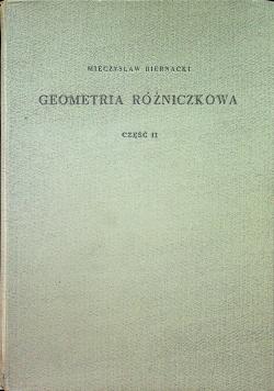 Geometria różniczkowa Część II