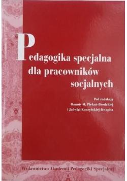 Pedagogika specjalna dla pracowników specjalnych