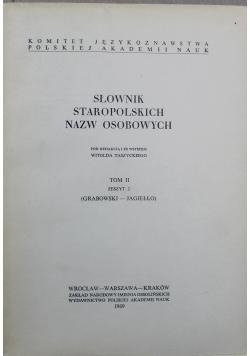 Słownik Staropolskich Nazw Osobowych Tom II Zeszyt 2