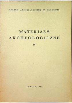 Materiały archeologiczne IV