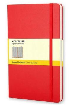 Notes Classic 13x21 tw. kratka- czerwony MOLESKINE