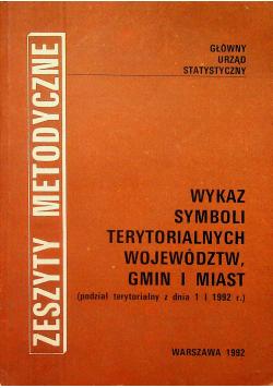 Wykaz symboli terytorialnych województw gmin i miast