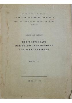Der Wortschatz der polnischen Mundart von Sankt Annaberg