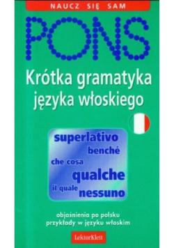Pons Krótka gramatyka języka włoskiego