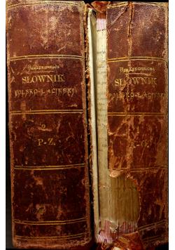 Słownik polsko - łaciński 2 tomy 1866 r.