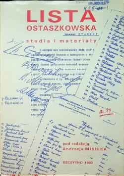 Lista Ostaszkowska
