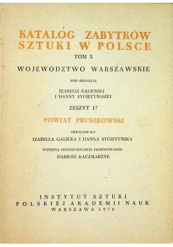 Katalog zabytków sztuki w Polsce Tom X Zeszyt 17