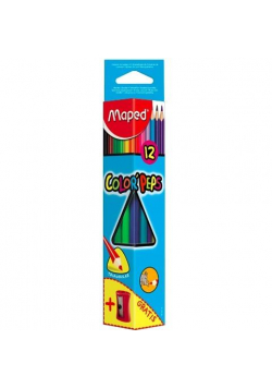 Kredki Colopeps trójkątne 12 kolorów + temperówka