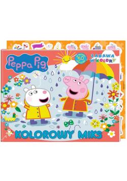 Świnka Peppa. Zabawa w kolory. Kolorowy miks