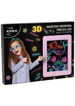 Magiczna neonowa tablica 3D LED różowa KIDEA