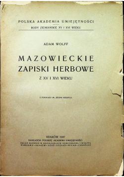 Mazowieckie zapiski herbowe 1937 r.