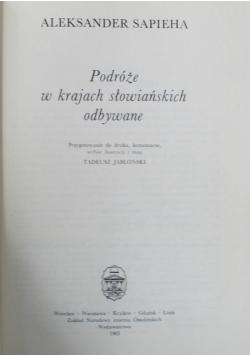 Podróże w krajach słowiańskich odbywane