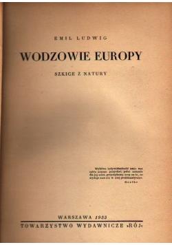 Wodzowie Europy 1935 r.