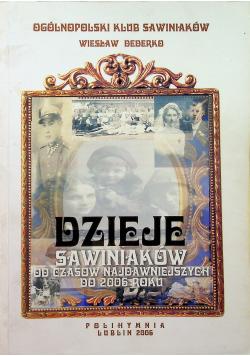 Dzieje Sawiniaków od czasów najdawniejszych do 2006 roku
