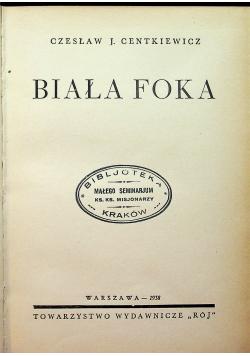 Biała foka 1938 r.