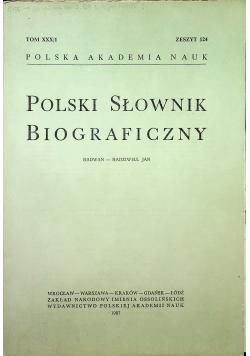 Polski słownik biograficzny Tom XXX/1 zeszyt 124