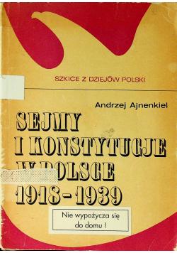 Sejmy i konstytucje w Polsce 1918 - 1939